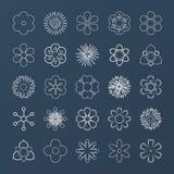 Σύνολο άσπρων λουλουδιών περιλήψεων Στοκ φωτογραφίες με δικαίωμα ελεύθερης χρήσης