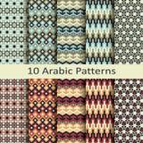 Σύνολο δέκα αραβικών σχεδίων Στοκ φωτογραφία με δικαίωμα ελεύθερης χρήσης