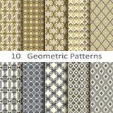 Σύνολο δέκα γεωμετρικών σχεδίων Στοκ φωτογραφία με δικαίωμα ελεύθερης χρήσης