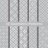 Σύνολο δέκα γεωμετρικών σχεδίων Στοκ Εικόνες