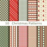 Σύνολο δέκα σχεδίων Χριστουγέννων Στοκ Εικόνες