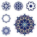 Σύνολο έξι mandalas Στοκ Φωτογραφίες