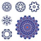Σύνολο έξι mandalas διανυσματική απεικόνιση