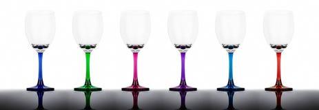 Σύνολο έξι wineglasses στοκ εικόνες με δικαίωμα ελεύθερης χρήσης