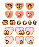 Σύνολο αγάπης Penguin Στοκ Εικόνα