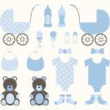 Σύνολο αγοριών ντους μωρών Στοκ Εικόνα