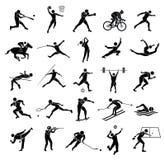 Σύνολο αθλητικών εικονιδίων Στοκ εικόνα με δικαίωμα ελεύθερης χρήσης