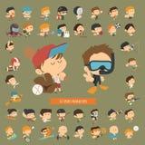 Σύνολο 42 αθλητικών χαρακτήρων απεικόνιση αποθεμάτων