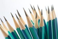 Σύνολο ακονισμένων πράσινων μολυβιών Στοκ φωτογραφία με δικαίωμα ελεύθερης χρήσης