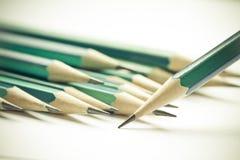 Σύνολο ακονισμένων πράσινων μολυβιών Στοκ Φωτογραφία