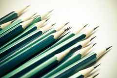 Σύνολο ακονισμένων πράσινων μολυβιών Στοκ Εικόνες