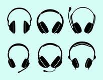 Σύνολο ακουστικών Στοκ φωτογραφία με δικαίωμα ελεύθερης χρήσης
