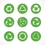 Σύνολο ανακύκλωσης συμβόλων και εικονιδίων Στοκ Εικόνες