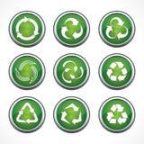 Σύνολο ανακύκλωσης συμβόλων και εικονιδίων Στοκ φωτογραφίες με δικαίωμα ελεύθερης χρήσης