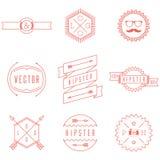 Σύνολο αναδρομικού εκλεκτής ποιότητας Hipster Logotypes Στοκ φωτογραφία με δικαίωμα ελεύθερης χρήσης