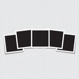 Σύνολο αναδρομικού πλαισίου φωτογραφιών σε ένα διαφανές υπόβαθρο Στοκ Εικόνα