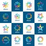 Σύνολο ανθρώπων ένωσης λογότυπων ελεύθερη απεικόνιση δικαιώματος