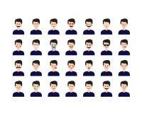 Σύνολο ανθρώπων emoticon Στοκ εικόνες με δικαίωμα ελεύθερης χρήσης