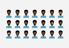 Σύνολο ανθρώπων emoticon Στοκ φωτογραφίες με δικαίωμα ελεύθερης χρήσης