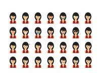 Σύνολο ανθρώπων emoticon Στοκ Εικόνα