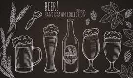Σύνολο αντικειμένων μπύρας Στοκ Εικόνα