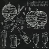 Σύνολο αντικειμένων μπύρας Στοκ φωτογραφία με δικαίωμα ελεύθερης χρήσης