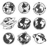 Σύνολο απεικόνισης έννοιας σφαιρών, μονοχρωματικό Στοκ φωτογραφία με δικαίωμα ελεύθερης χρήσης