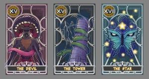 Σύνολο απεικόνισης καρτών Tarot Στοκ Φωτογραφία