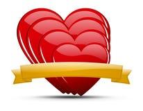 Σύνολο απεικόνισης καρδιών Στοκ εικόνα με δικαίωμα ελεύθερης χρήσης