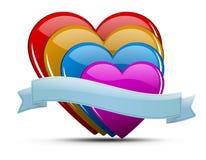 Σύνολο απεικόνισης καρδιών Στοκ Φωτογραφία