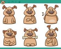Σύνολο απεικόνισης κινούμενων σχεδίων συγκινήσεων σκυλιών Στοκ Εικόνες