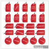 Σύνολο απεικόνισης σχήματος ετικεττών EPS10 πώλησης Στοκ φωτογραφία με δικαίωμα ελεύθερης χρήσης