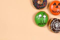 Σύνολο αποκριών donuts Στοκ εικόνες με δικαίωμα ελεύθερης χρήσης