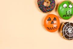 Σύνολο αποκριών donuts Στοκ φωτογραφίες με δικαίωμα ελεύθερης χρήσης