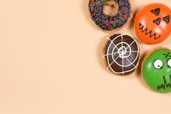 Σύνολο αποκριών donuts Στοκ φωτογραφία με δικαίωμα ελεύθερης χρήσης