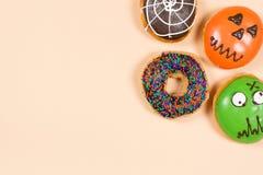 Σύνολο αποκριών donuts Στοκ Φωτογραφίες