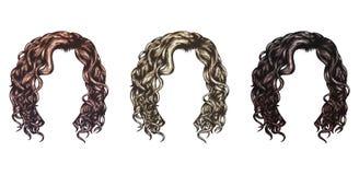 Σύνολο απομονωμένου διανύσματος hairstyles Στοκ φωτογραφία με δικαίωμα ελεύθερης χρήσης