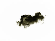Σύνολο απομονωμένων σύννεφων πέρα από το άσπρο υπόβαθρο στοιχεία τέσσερα σχεδίου ανασκόπησης snowflakes λευκό Μαύρα απομονωμένα σ Στοκ Φωτογραφία