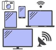 Σύνολο απλών συσκευών εικονιδίων διάνυσμα Στοκ φωτογραφία με δικαίωμα ελεύθερης χρήσης