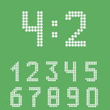 Σύνολο αριθμού πινάκων βαθμολογίας ελεύθερη απεικόνιση δικαιώματος