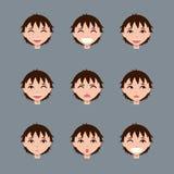 Σύνολο αρσενικών χαρακτήρων emoji Στοκ φωτογραφίες με δικαίωμα ελεύθερης χρήσης