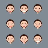 Σύνολο αρσενικών χαρακτήρων emoji Στοκ Φωτογραφία