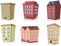 Σύνολο αρχιτεκτονικής διαμερισμάτων οικοδόμησης σπιτιών 2 Στοκ Εικόνα
