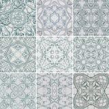 Σύνολο ασημένιων Floral άνευ ραφής σχεδίων για το ύφασμα Στοκ Εικόνες