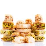 Σύνολο ασιατικών γλυκών που απομονώνεται στο λευκό Στοκ Φωτογραφίες