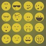 Σύνολο αστείων smileys Στοκ Εικόνες