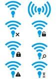 Σύνολο ασύρματων εικονιδίων πρόσβασης λι-Fi ελεύθερη απεικόνιση δικαιώματος