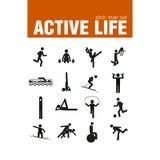 Σύνολο ατόμων ραβδιών άσκησης προθέρμανσης Στοκ Εικόνες