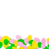 Σύνολο αυγών εγγράφου, τέχνες με τα παιδιά, Στοκ εικόνες με δικαίωμα ελεύθερης χρήσης