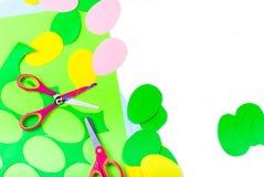Σύνολο αυγών εγγράφου, τέχνες με τα παιδιά, Στοκ φωτογραφία με δικαίωμα ελεύθερης χρήσης